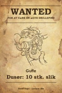 Guffe wanted plakat